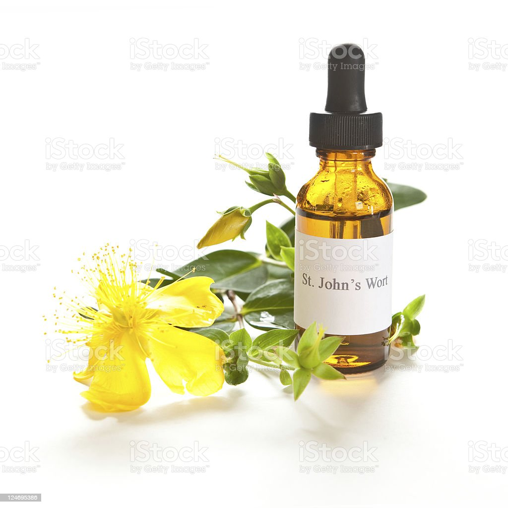 St. John's Wort tincture or extraction royalty-free stock photo