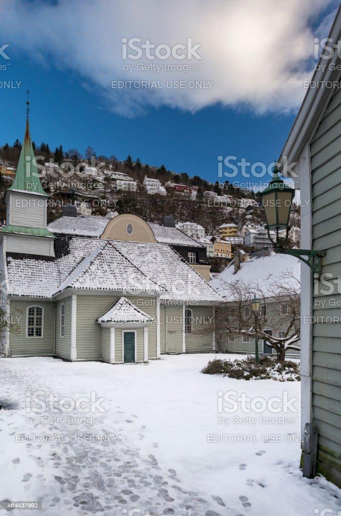 St. Jorgen leprosy Hospital in Bergen, Norway stock photo