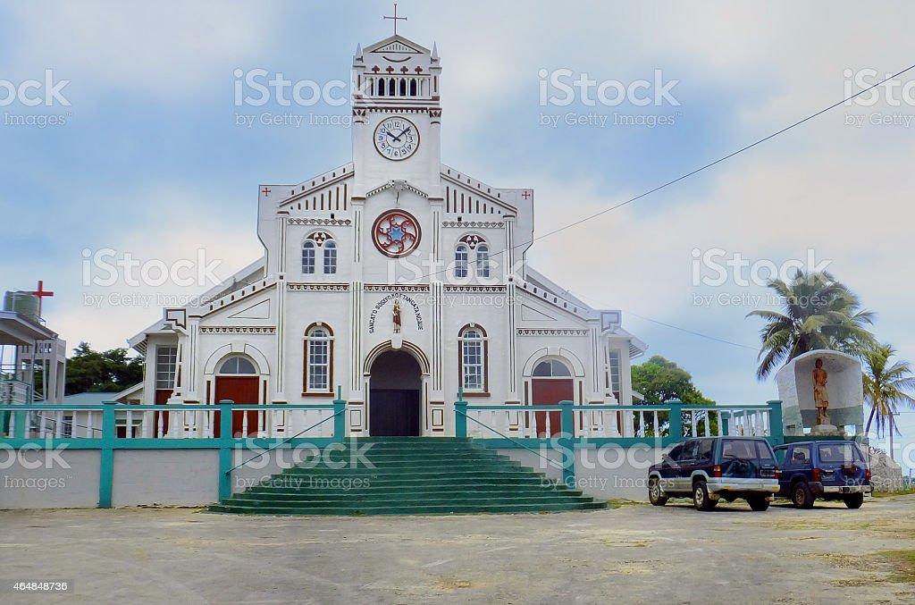 St Joseph Cathedral in Neiafu, Vavau, Tonga stock photo