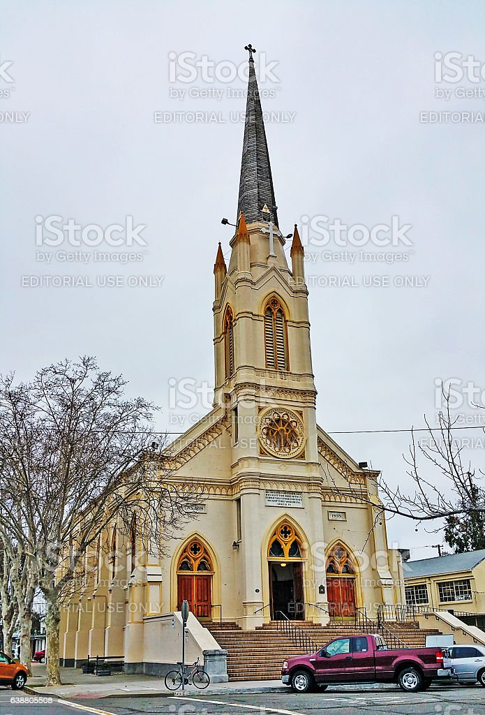 St Joseph Catholic Church Marysville California stock photo