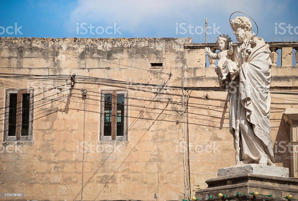 St. Joseph in Malta royalty-free stock photo