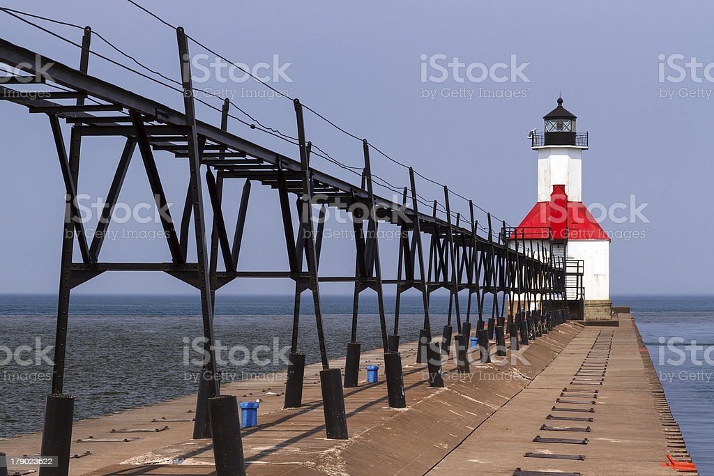 Faro di Saint Joseph, Michigan foto stock royalty-free