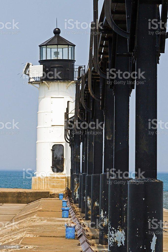 St. Joseph North Pier luce esterna, Michigan foto stock royalty-free