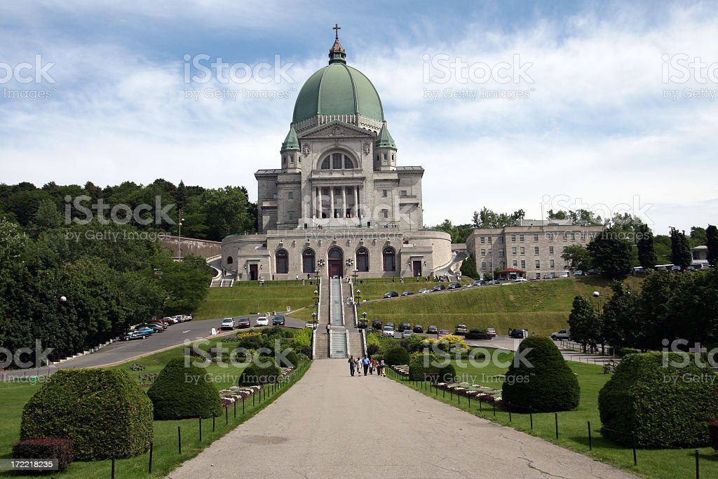 St Joseph Oratory in Summer, Montreal, Quebec stock photo