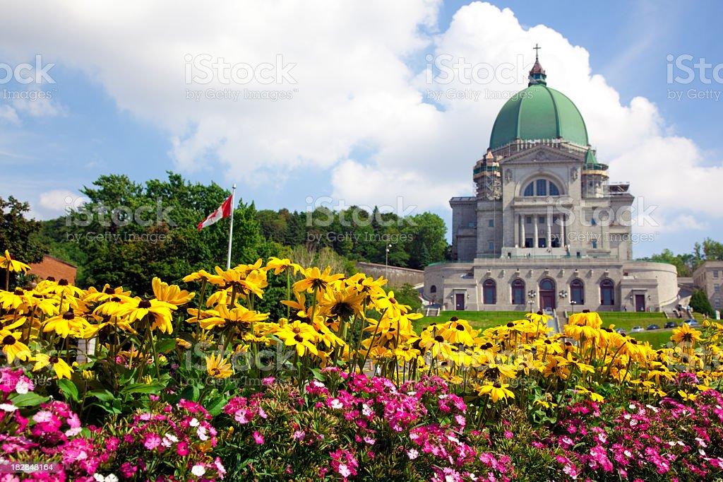 St Joseph Oratory in Summer, Montreal, Quebec stock photo
