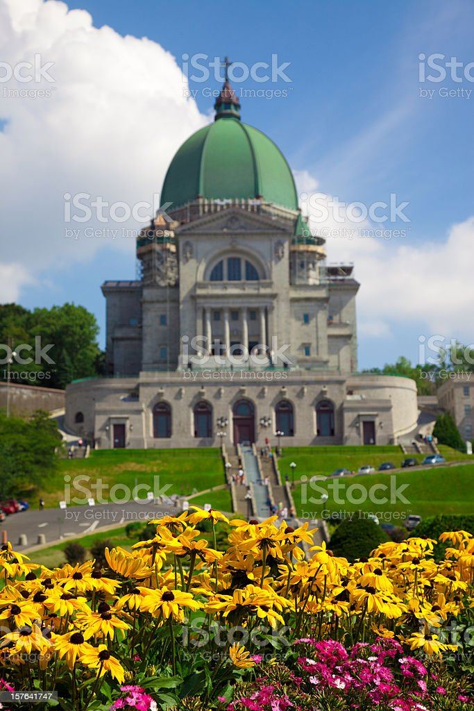 St Joseph Oratory in Summer stock photo