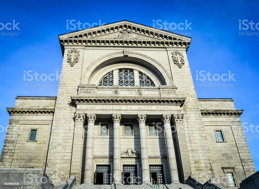 St Joseph Oratory stairs - Front View - Montreal stock photo
