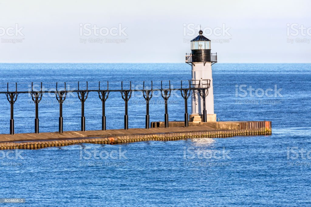 St. Joseph Outer Lighthouse stock photo