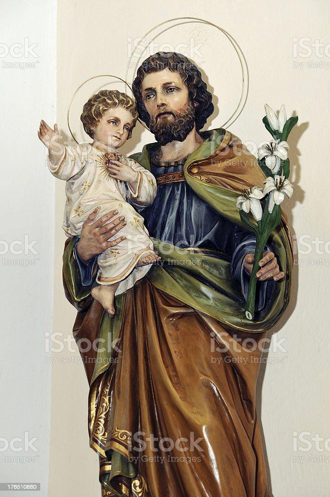 St. Joseph statue stock photo