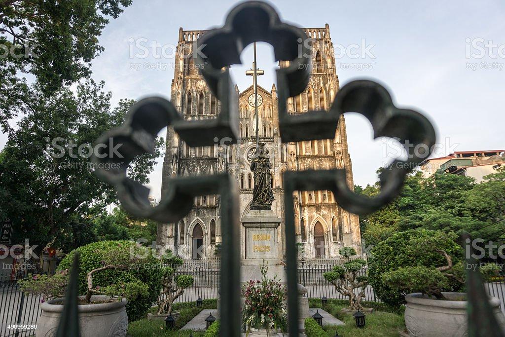 St. Joseph's Cathedral, Hanoi stock photo