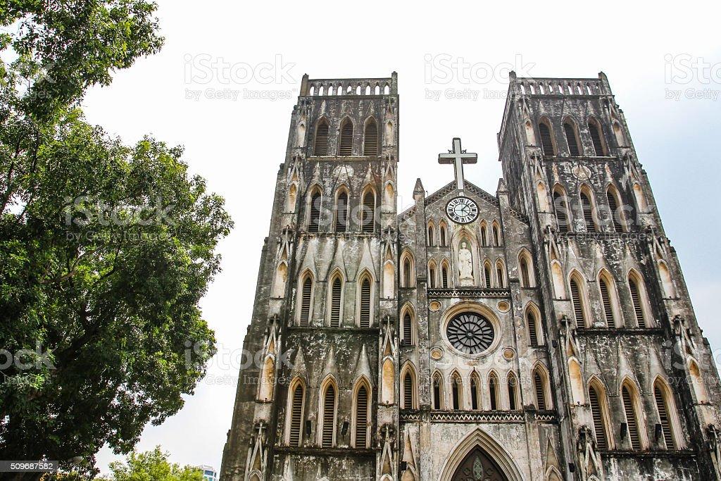 St. Joseph's Cathedral in Hanoi stock photo
