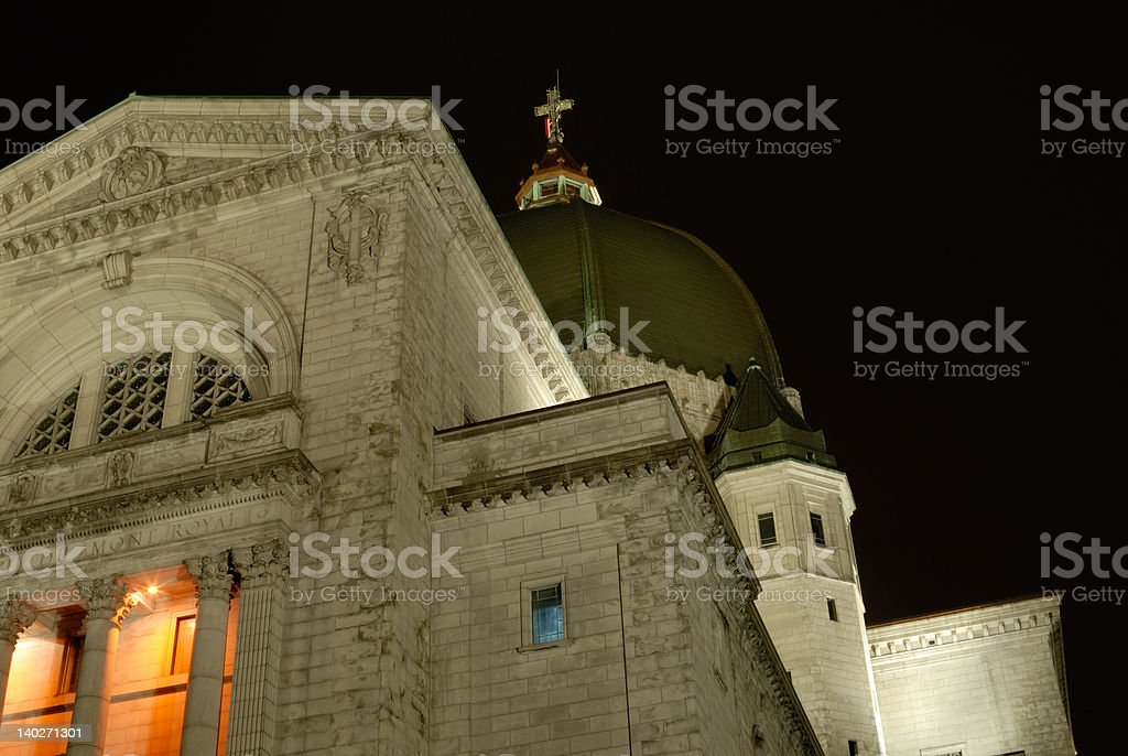 St. Joseph's Oratory at Night stock photo