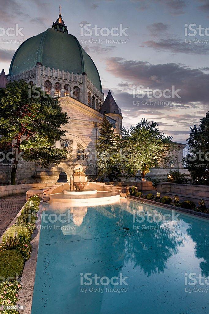 St Joseph's Oratory Garden stock photo