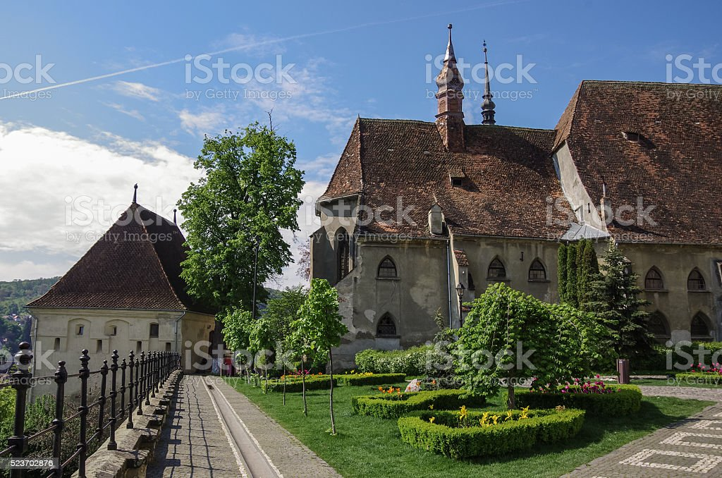 St. Joseph's Roman Catholic Cathedral and tower of stronghold i stock photo