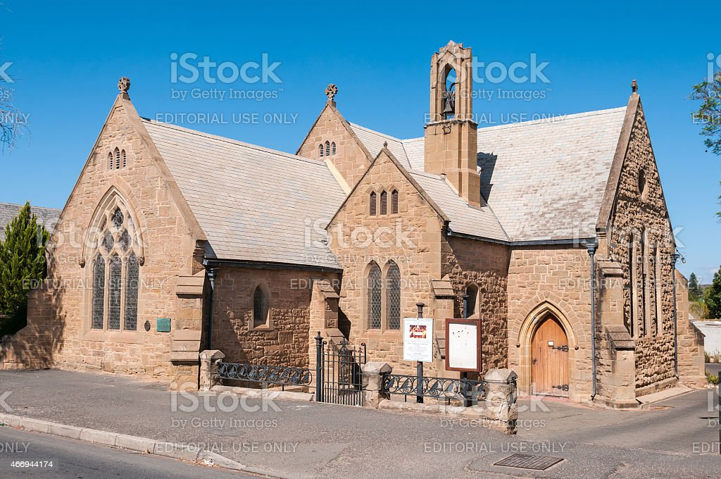 St. Judes Anglican Church in Oudtshoorn stock photo