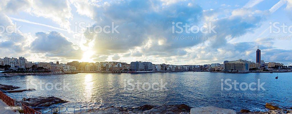 St Julian bay. stock photo