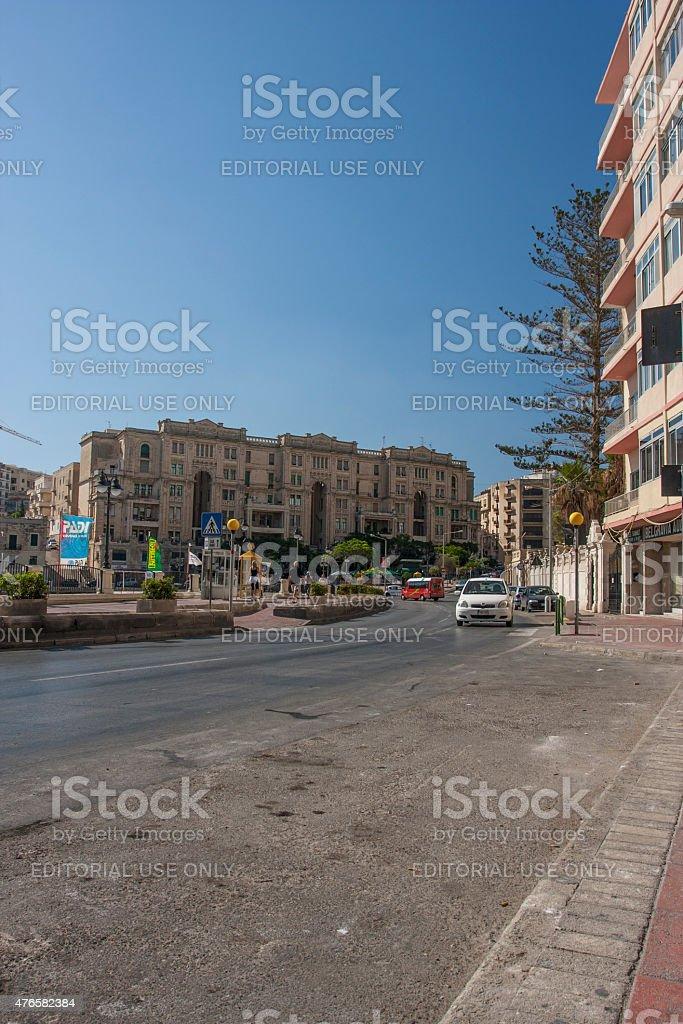 St. Julian's Town in Malta stock photo