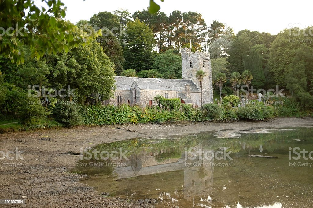 St. Just in Roseland Church, Cornwall stock photo