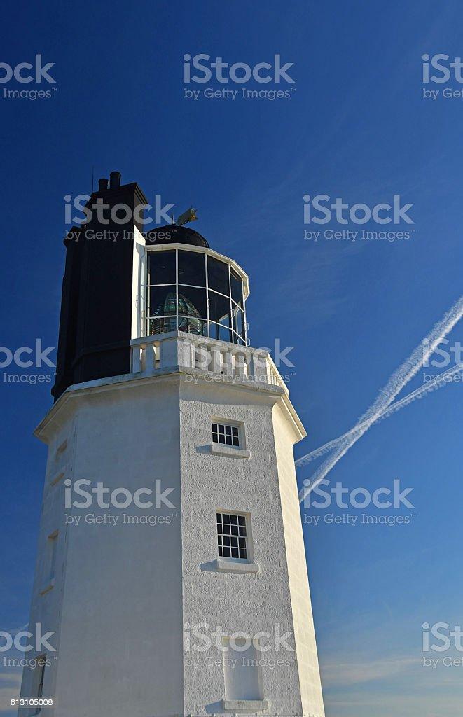 St. Just Lighthouse, Roseland, Cornwall, UK stock photo