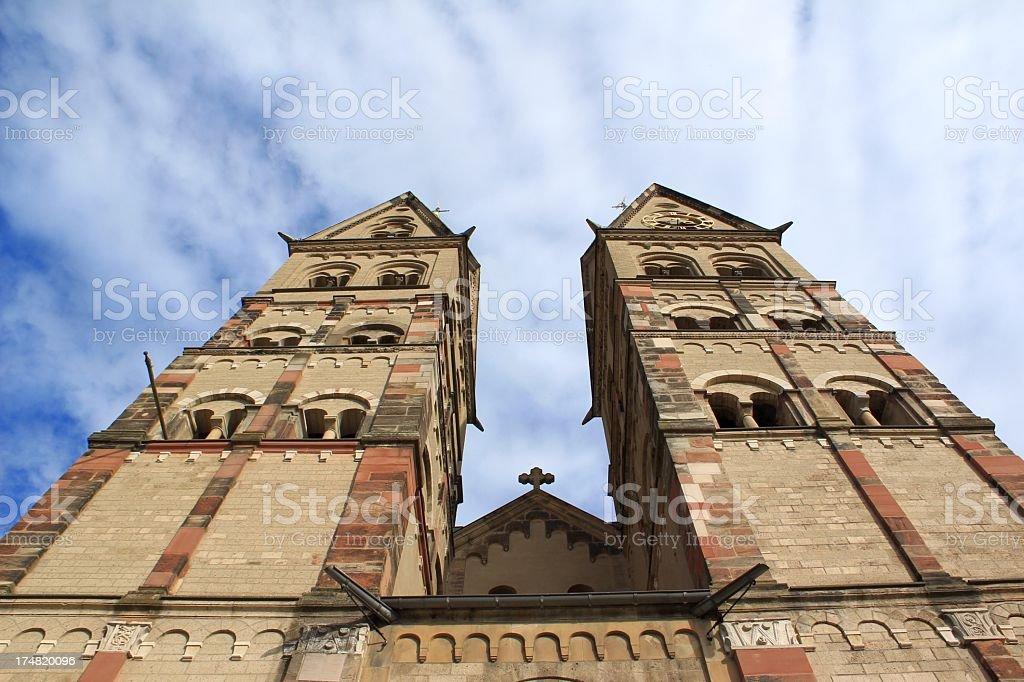 St. Kastor basilica in Koblenz (Germany) royalty-free stock photo