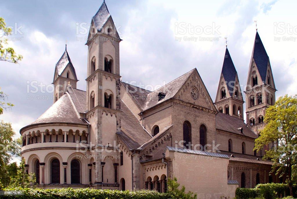 St. Kastor in Koblenz stock photo