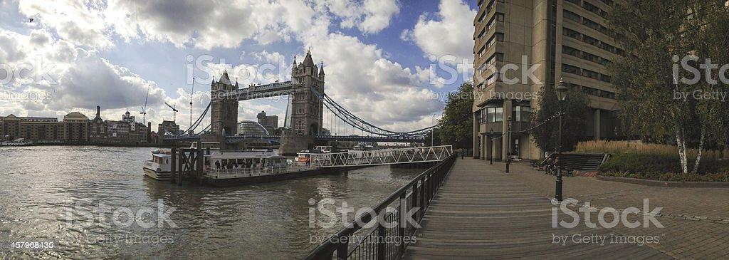 St Katharine Docks in London near Tower Bridge royalty-free stock photo