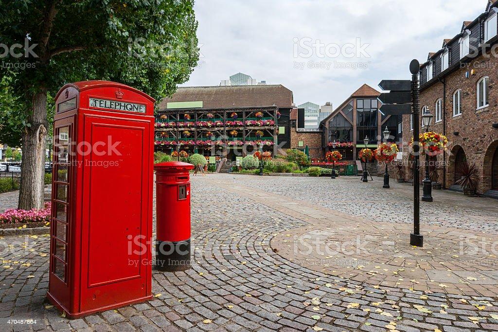 St Katharine's Dock. London, England stock photo
