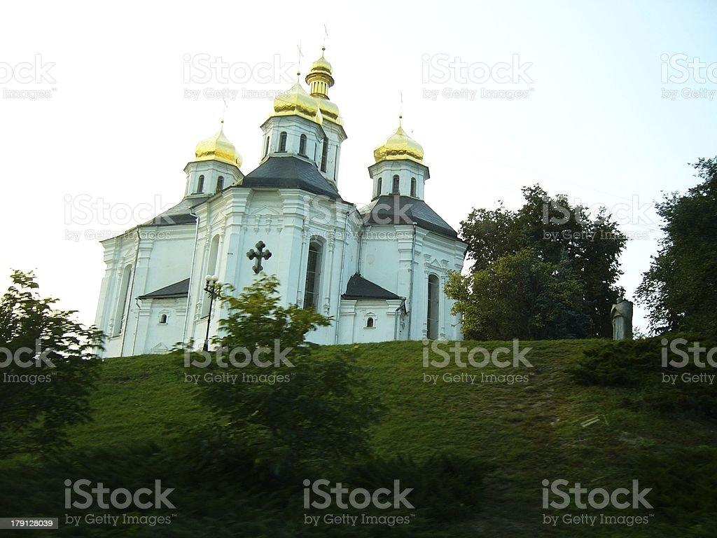 St. Katheryna's church in Chernigiv, Ukraine stock photo