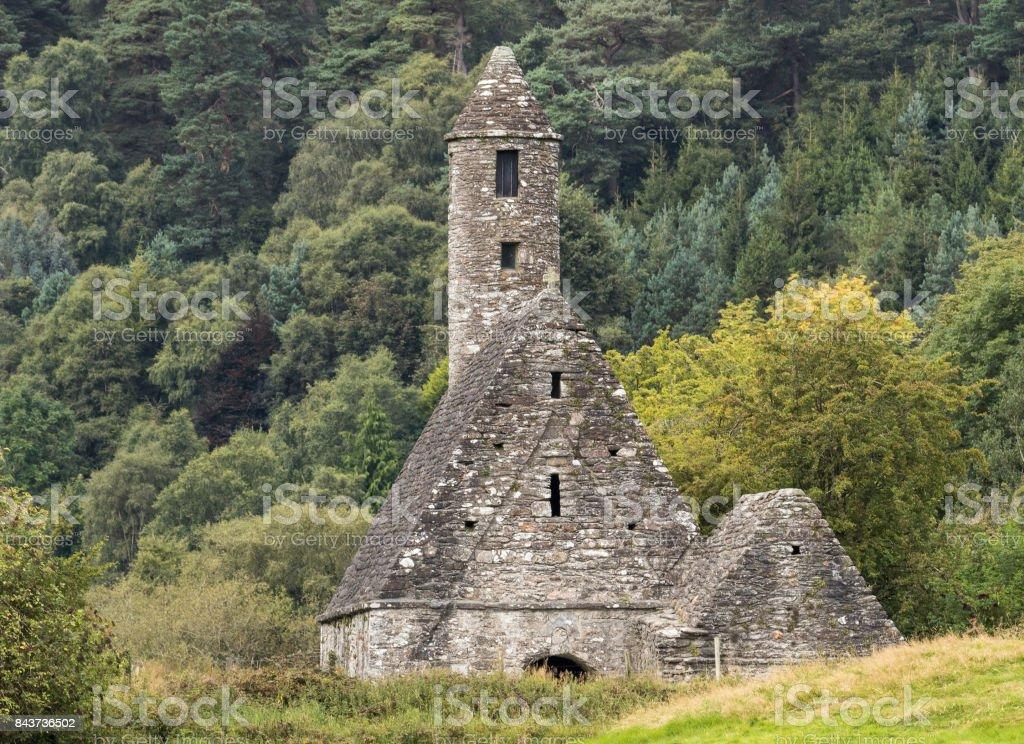 St. Kevin's Church, Glendalough stock photo