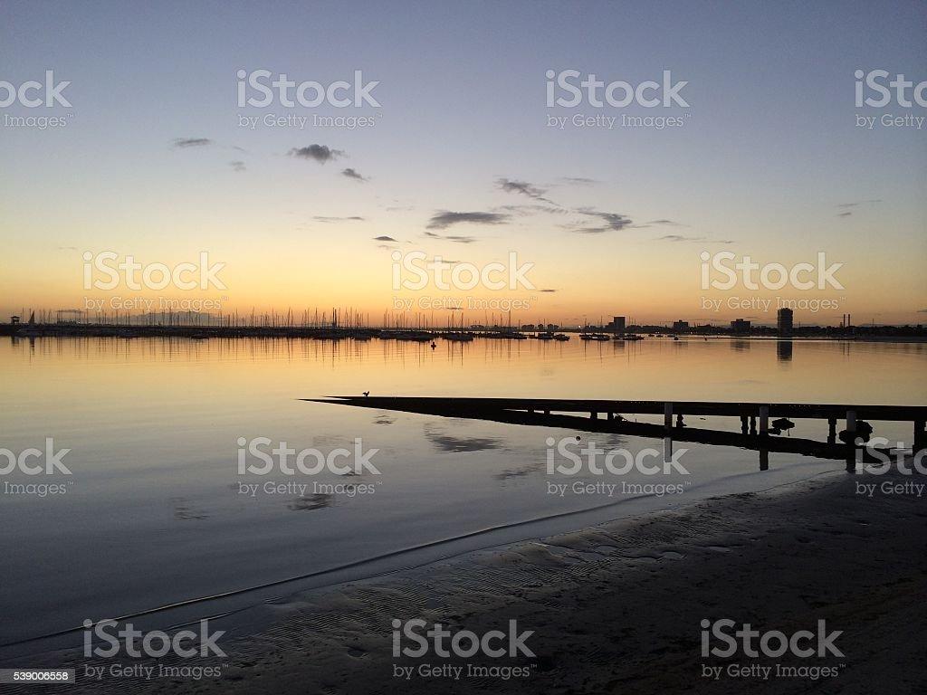 St Kilda Beach foto de stock libre de derechos