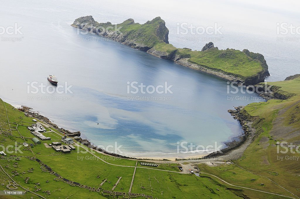 St Kilda from the Sky stock photo