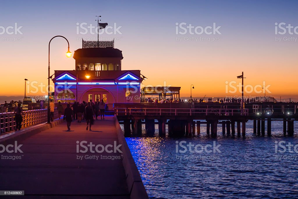 St Kilda Pier stock photo