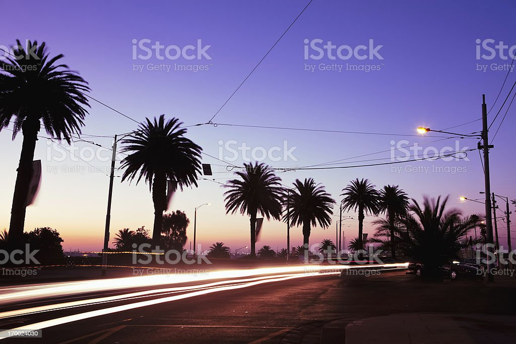 St. Kilda Sunset stock photo