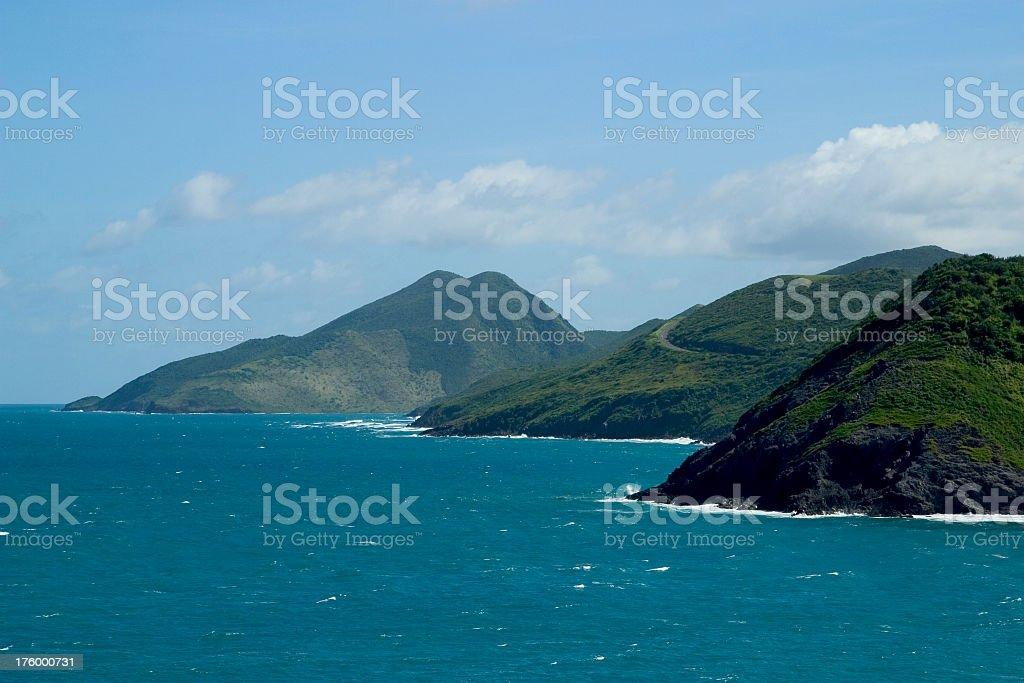St. Kitt's Nevis Coastline stock photo