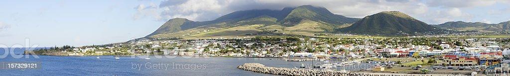 St. Kitts Panorama stock photo