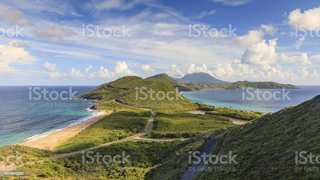 St Kitts Panorama stock photo