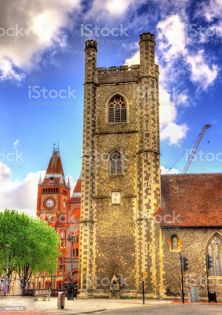 St Laurence's Church in Reading - England stock photo