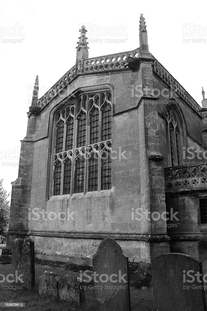 Chiesa di Saint Lawrence, Lechlade foto stock royalty-free
