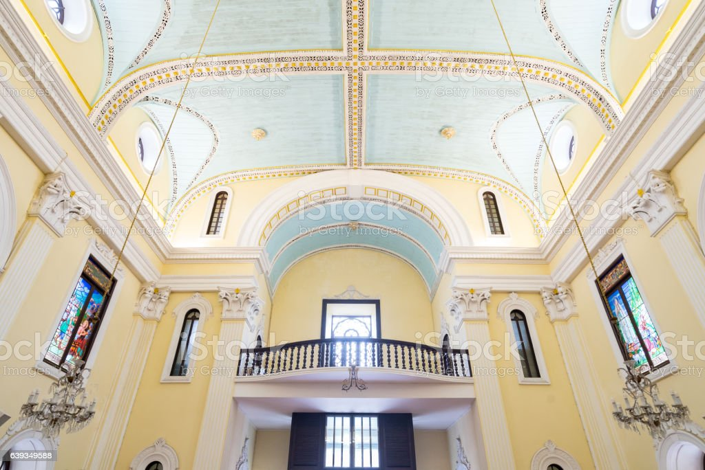 St. Lawrence Church Macau stock photo