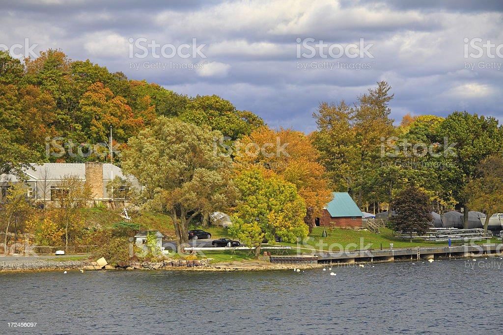 St Lawrence River Cottage Marina royalty-free stock photo