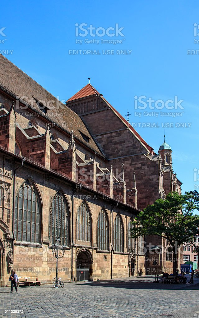 St. Lorenz Church in Nuremberg, Germany, 2015 stock photo