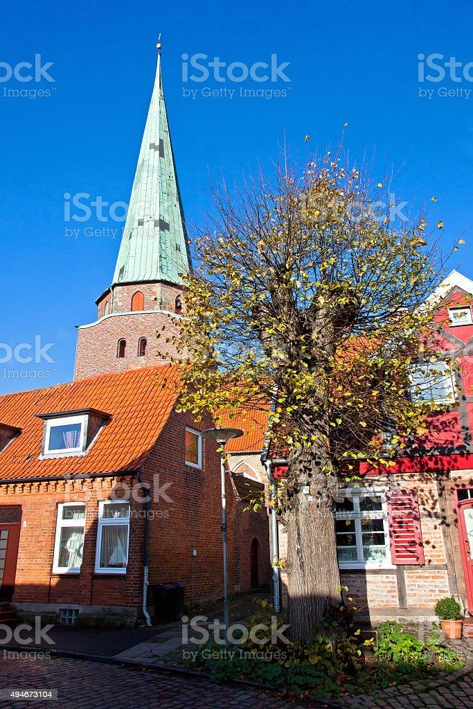 St Lorenz Church in Travemunde city, Germany stock photo