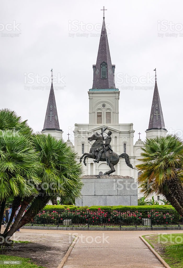 St. Louis Cathedral at Jackson Square New Orleans Lizenzfreies stock-foto