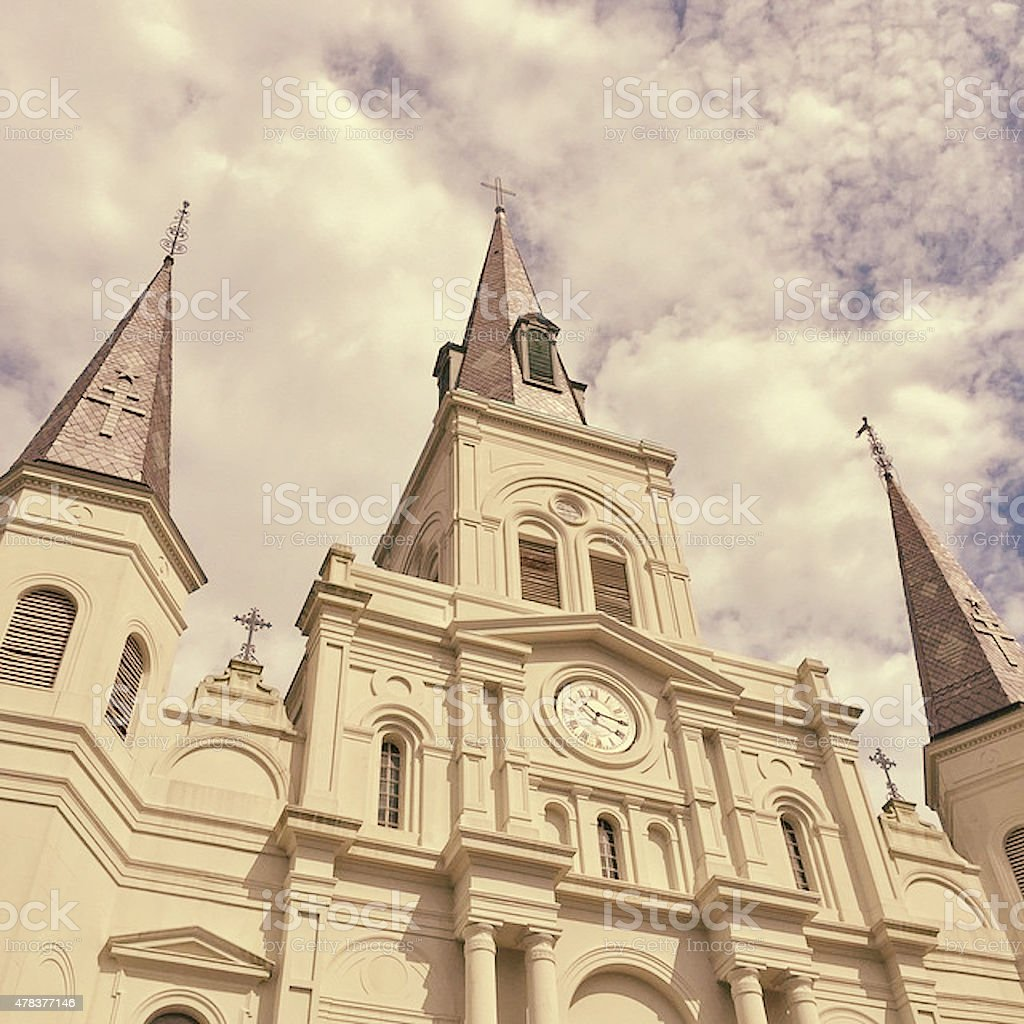St. Louis Cathedral New, Orleans Louisiana stock photo