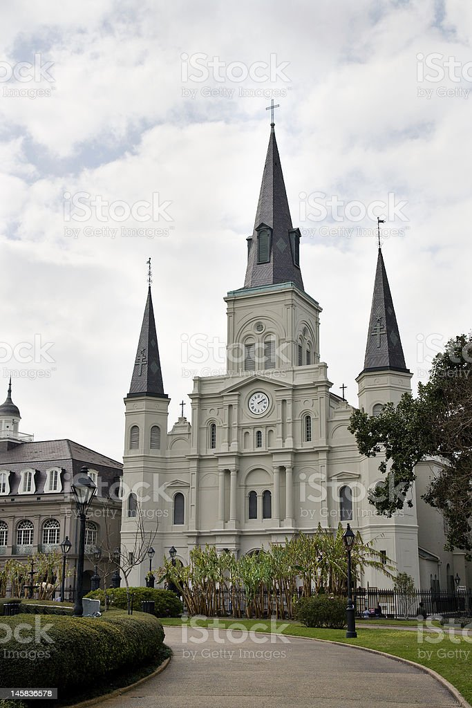 St. Louis Cathedral, New Orleans royalty-free stock photo