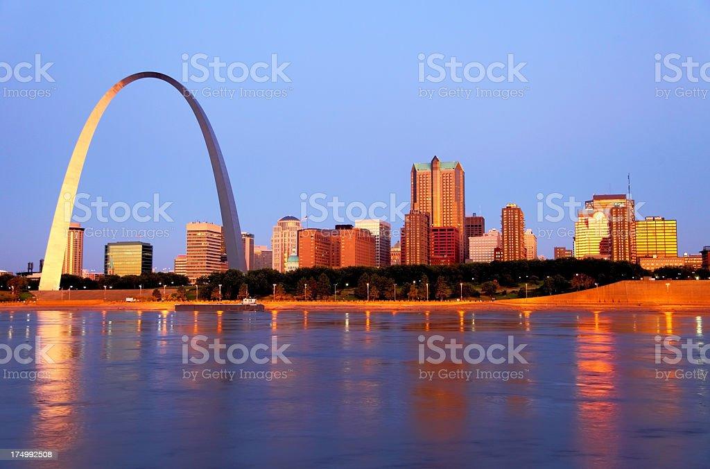 St Louis Cityscape stock photo