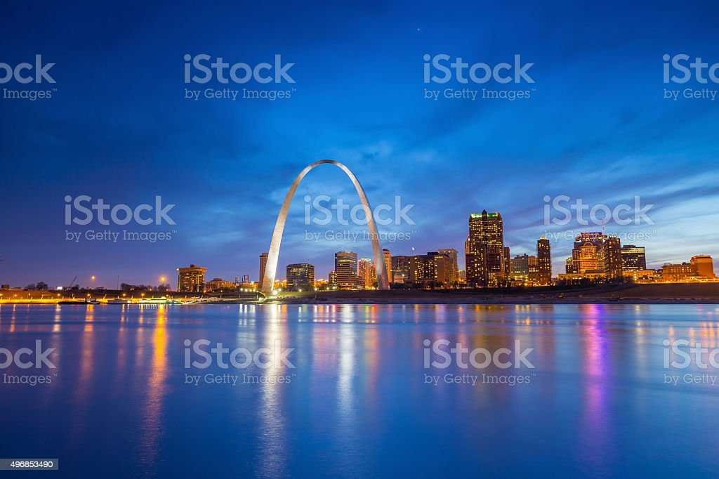 St. Louis downtown stock photo
