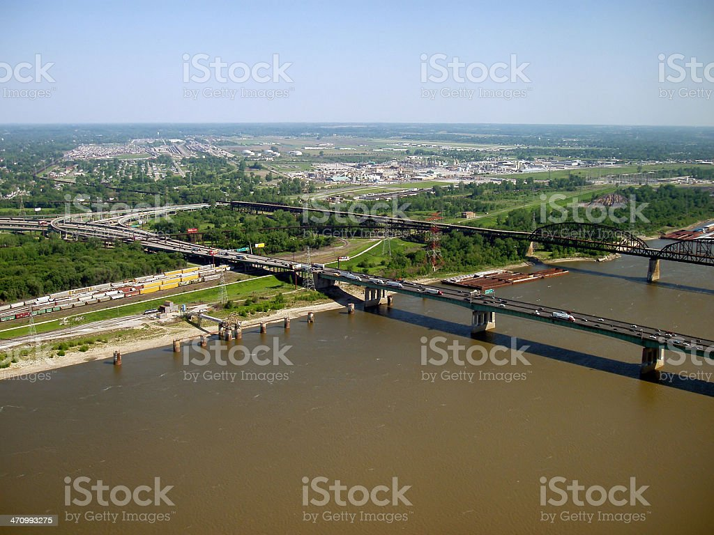 St. Louis - Mississippi River stock photo