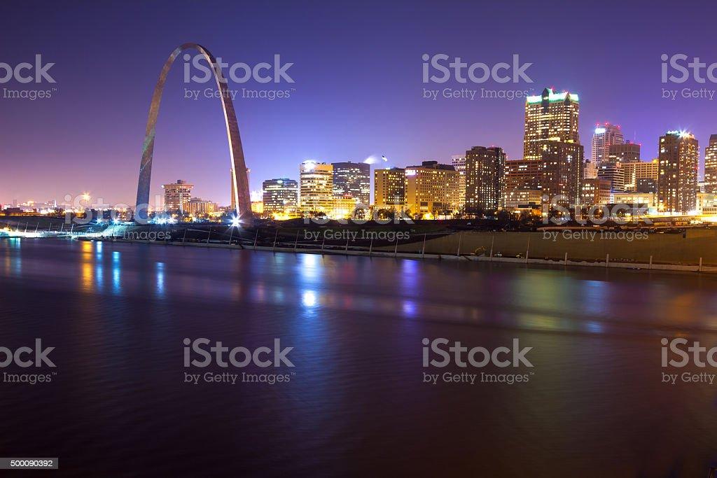 St. Louis Skyline at Twilight stock photo