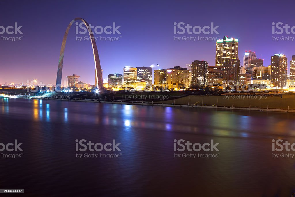 St. Louis Skyline at Twilight stock photo